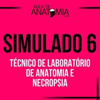 Simulado 6 - Técnico de Laboratório de Anatomia e Necropsia